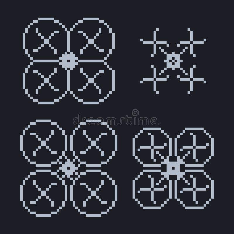 Prosty set piksel sztuki styl bławy ilustracja wektor