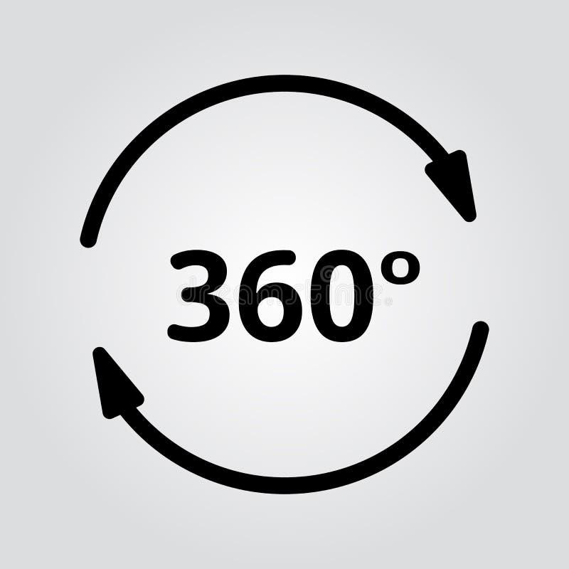 Prosty set 360 stopni widoku Powiązane Wektorowe ikony dla Twój projekta fotografia stock