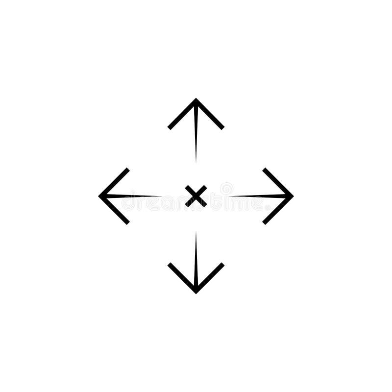 Prosty snajperskiego karabinu celu cel AR crosshairs Armatnia zakres ikona royalty ilustracja