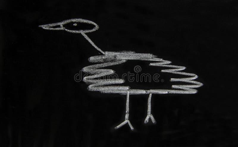 Prosty szkic ptaka zdjęcie stock
