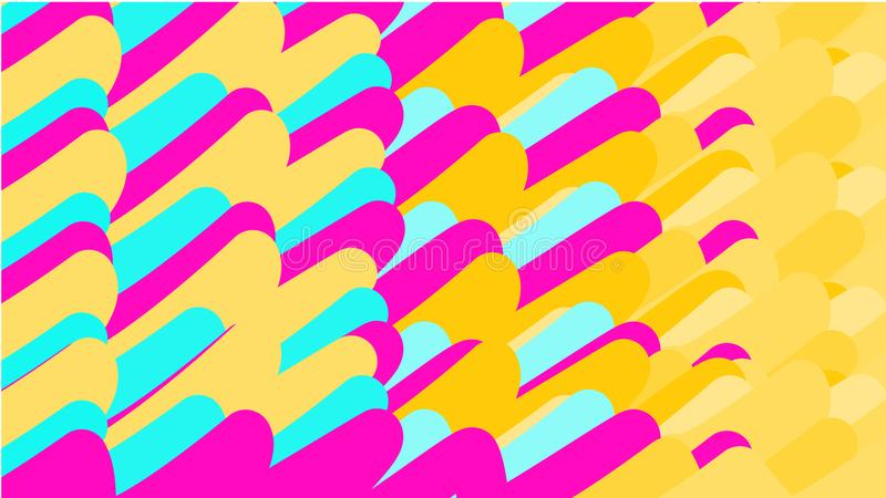 Prosty tło minimalistic różnobarwni magiczni stubarwni abstrakty różnorodni pionowi rozkazywać jaskrawi owale, tubki, sphe royalty ilustracja