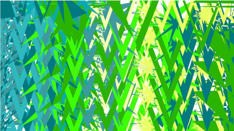 Prosty tło, tekstura minimalistic abstrakty różnorodni rzeźbiący wtyka ostrze różni jaskrawi trójboki, zieleni i błękitni ilustracja wektor