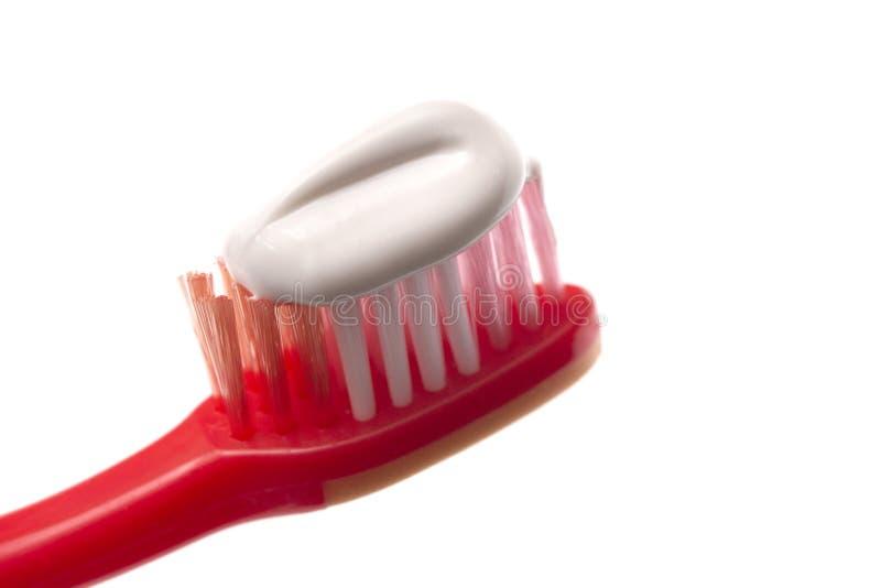 Prosty Toothbrush na Białym tle z pasta do zębów Stosować obraz royalty free