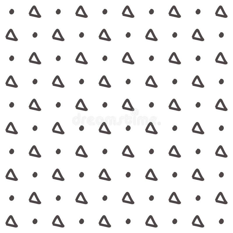 Prosty trójboka wzór tło rysująca ręka bezszwowa ilustracji