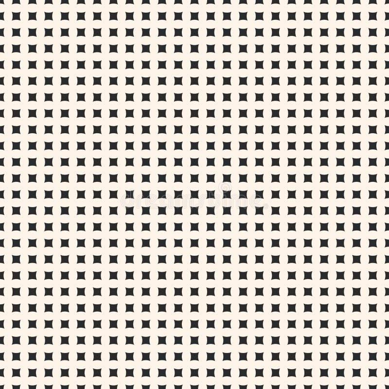 Prosty wektorowy geometryczny bezszwowy wzór z malutkimi kwadratowymi kształtami ilustracja wektor