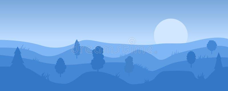 Prosty wieczór krajobraz ilustracji