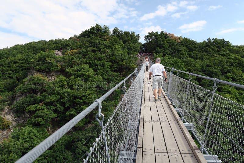 Prosty zawieszenie most Geierlay obrazy stock