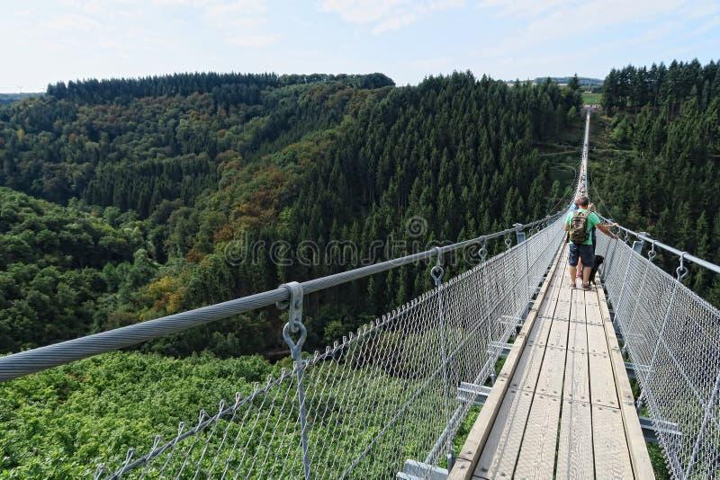 Prosty zawieszenie most Geierlay obrazy royalty free