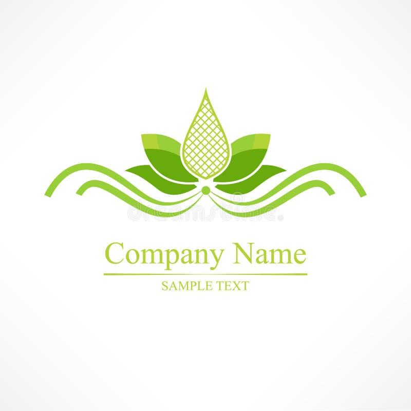 Prosty zielony lotos, wektorowa joga ikona obraz royalty free