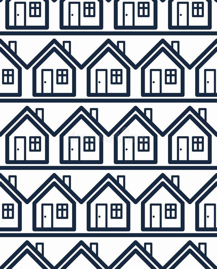 Prostych domów ciągły wektorowy tło proroctwo royalty ilustracja