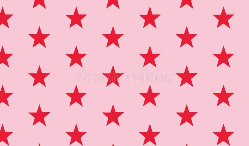 Prostych Nowożytnych abstrakt menchii czerwony gwiazdowy wzór ilustracji