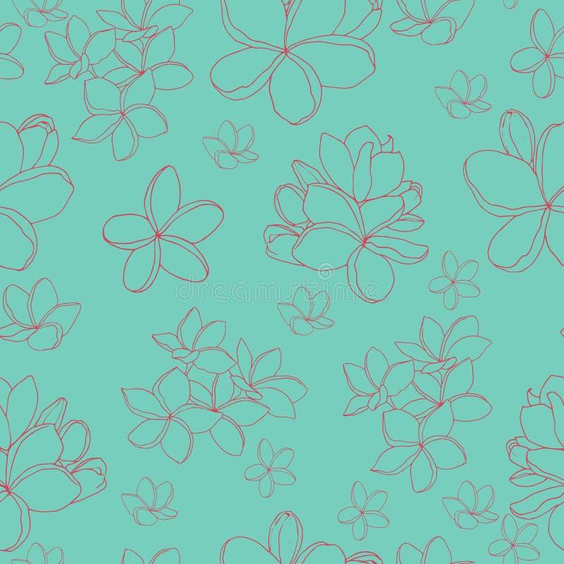 Prostych tropikalnych kwiat?w bezszwowy wz?r ilustracji