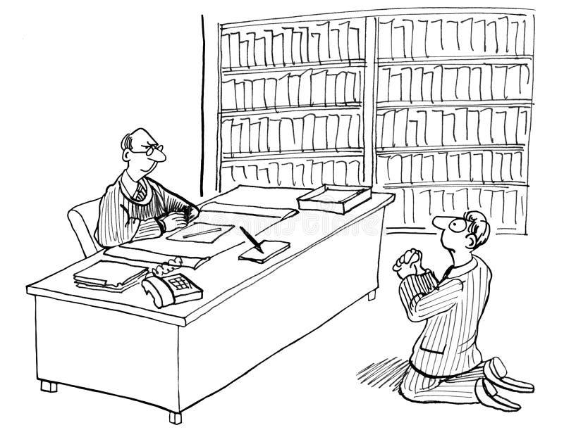 Proszałny sędzia royalty ilustracja