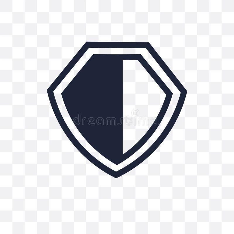 Protégez l'icône transparente Protégez la conception de symbole contre l'interf d'utilisateur illustration stock