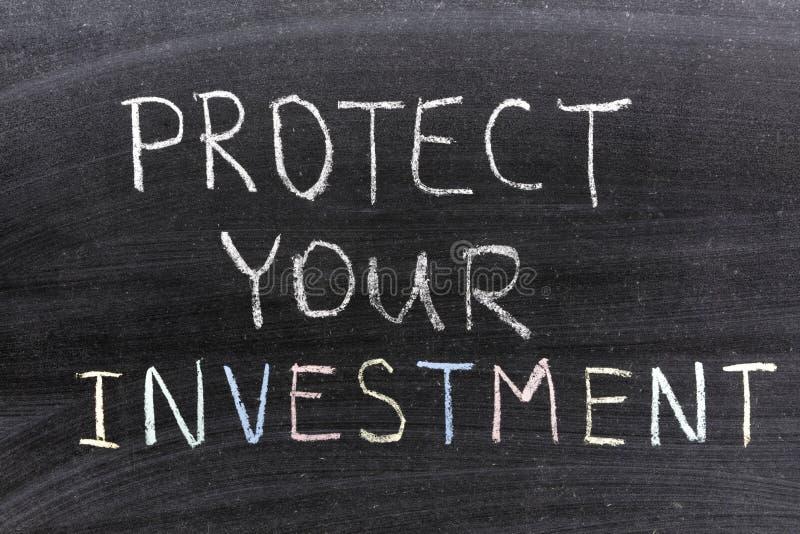 Protégez l'investissement photos stock