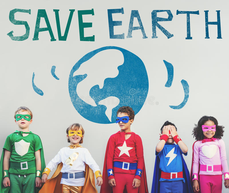 Protégez le concept de planète de nature de la terre d'économies images libres de droits