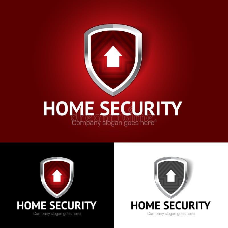 Protégez le logo à la maison, sécurité à la maison, immobiliers, maison, maison, calibre d'isolement de logo de vecteur illustration de vecteur