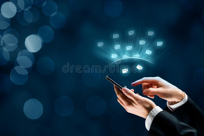 Protégez le téléphone intelligent contre le Spam image libre de droits