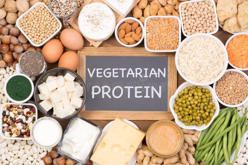 Protéine dans le régime végétarien Sources de nourriture de protéine végétarienne photos stock
