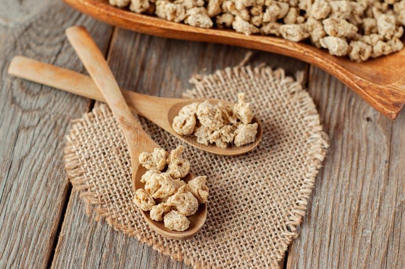Protéine de soja texturisée TVP TSP de protéine végétale fibreuse Viande de soja pour un régime végétarien photographie stock