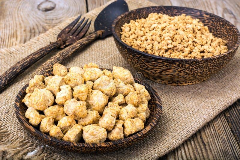 Protéine végétale fibreuse, viande de soja pour un régime végétarien images stock