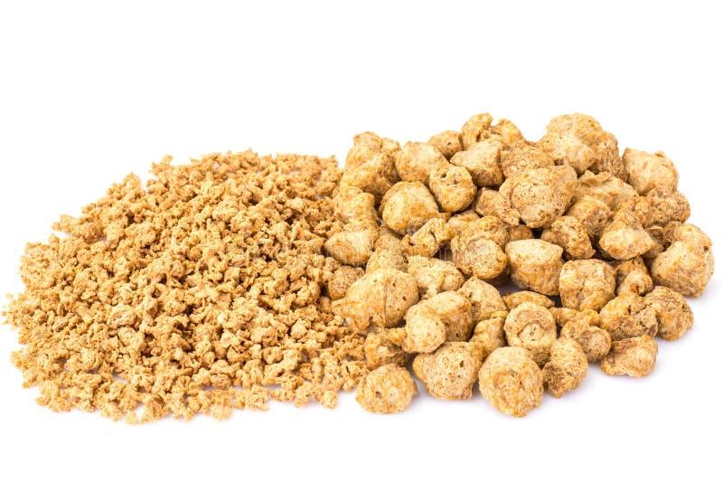 Protéine végétale fibreuse, viande de soja pour un régime végétarien image stock
