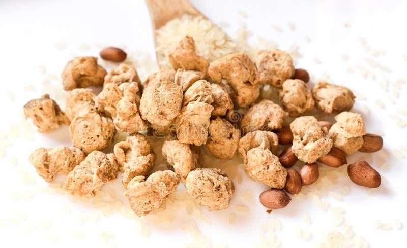 Protéine végétale fibreuse, viande de soja pour un régime végétarien photographie stock