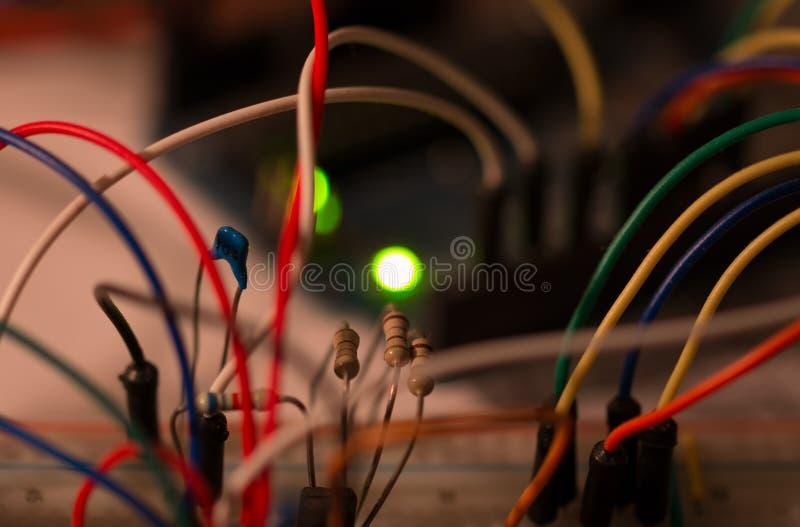 Protótipo eletrônico imagens de stock royalty free