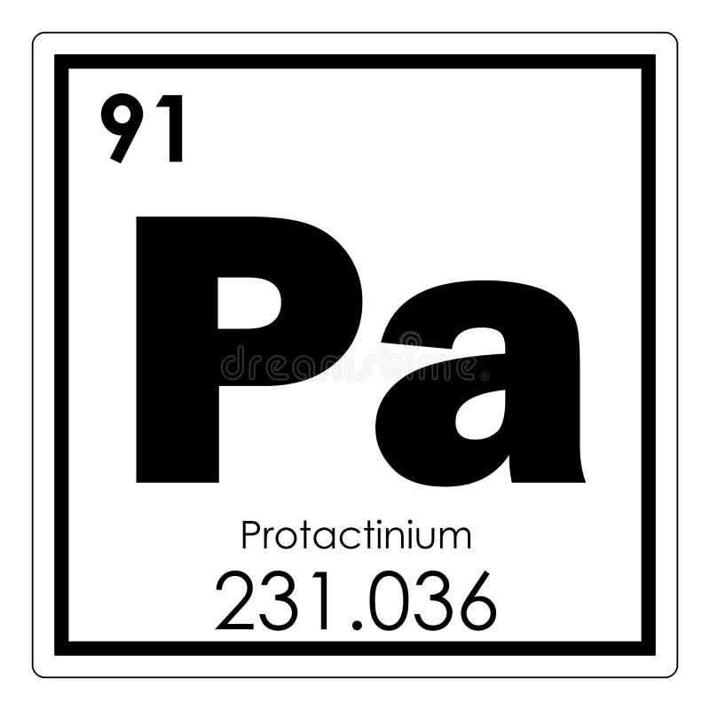 Protactinium chemical element vector illustration