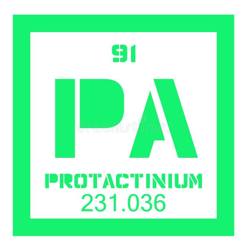 Protactinium chemisch element royalty-vrije illustratie