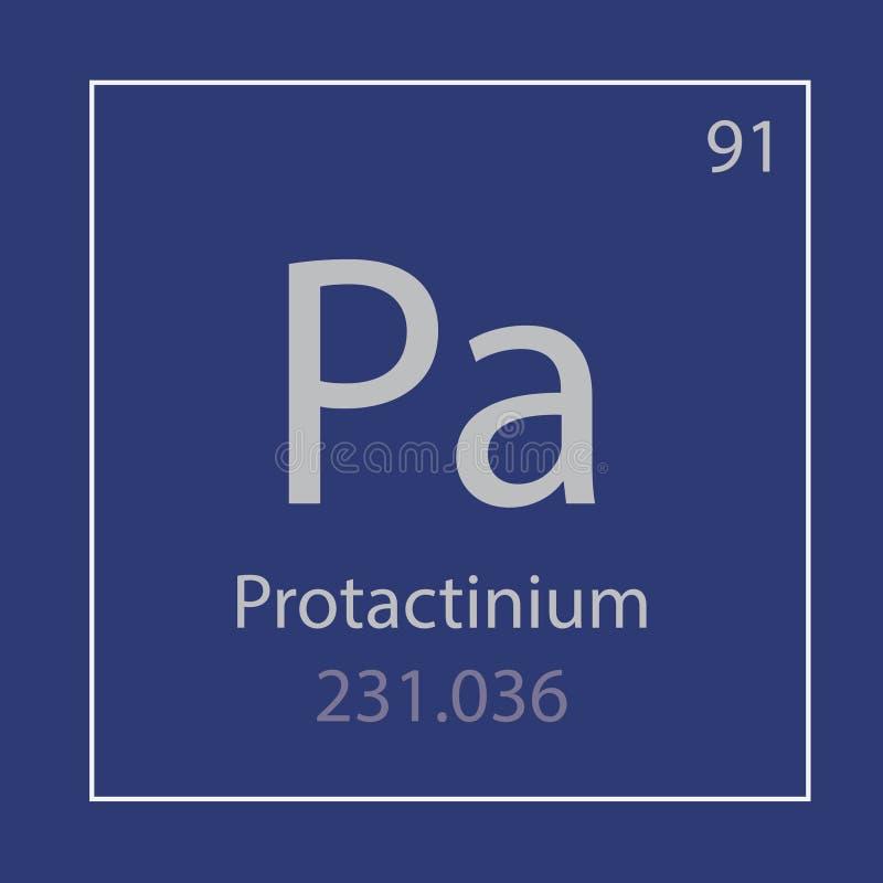 Protactinium Pa chemical element icon vector illustration