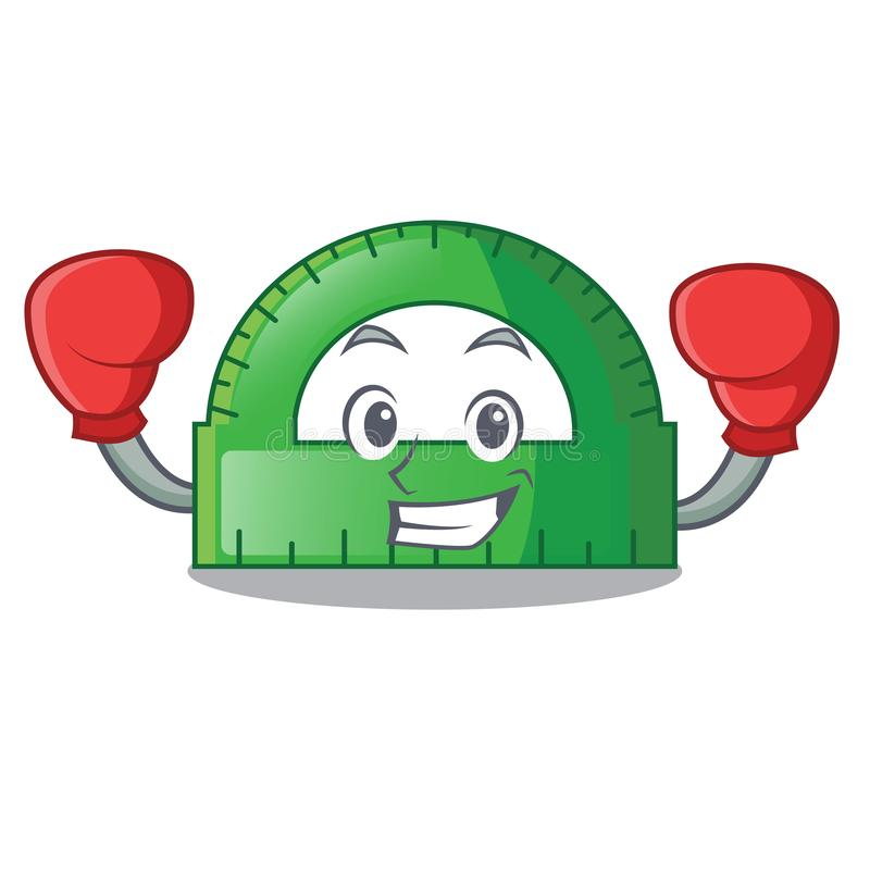 Protactor бокса внутри на форме характера иллюстрация вектора