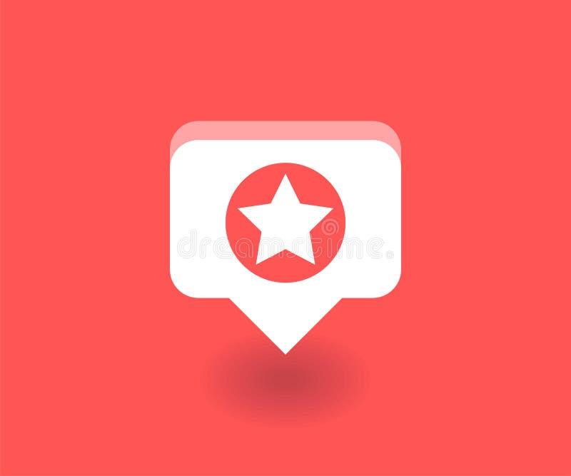 Protagonice el icono, símbolo del vector en estilo plano aislado en fondo rojo Medios ejemplo social ilustración del vector