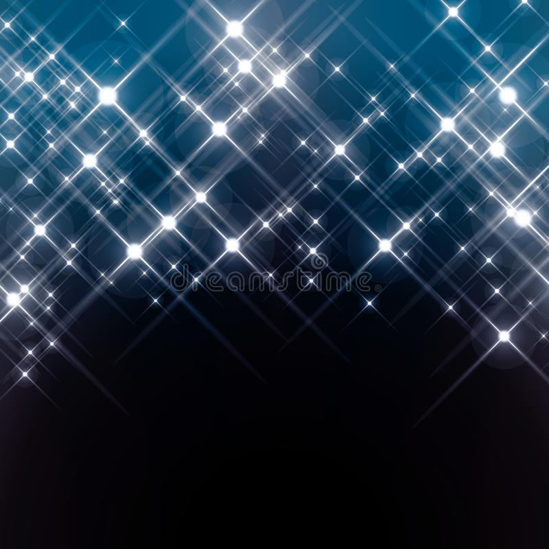 Protagoniza no céu noturno ilustração stock