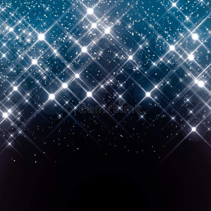 Protagoniza no céu noturno ilustração royalty free