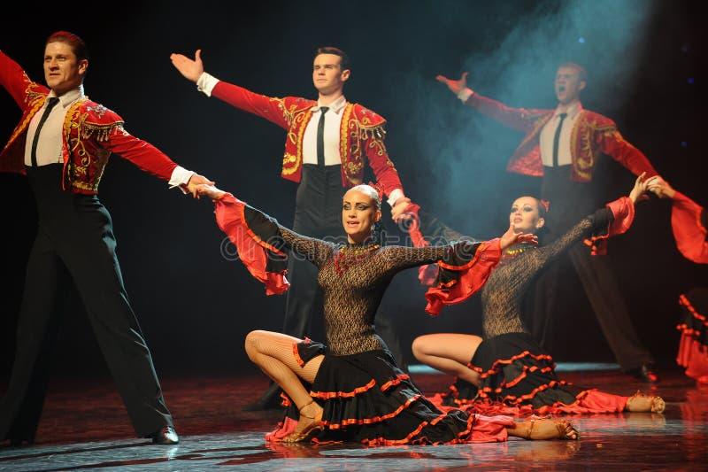 Protagonizar danza del mundo de Austria de la llamada- de la cortina fotografía de archivo libre de regalías