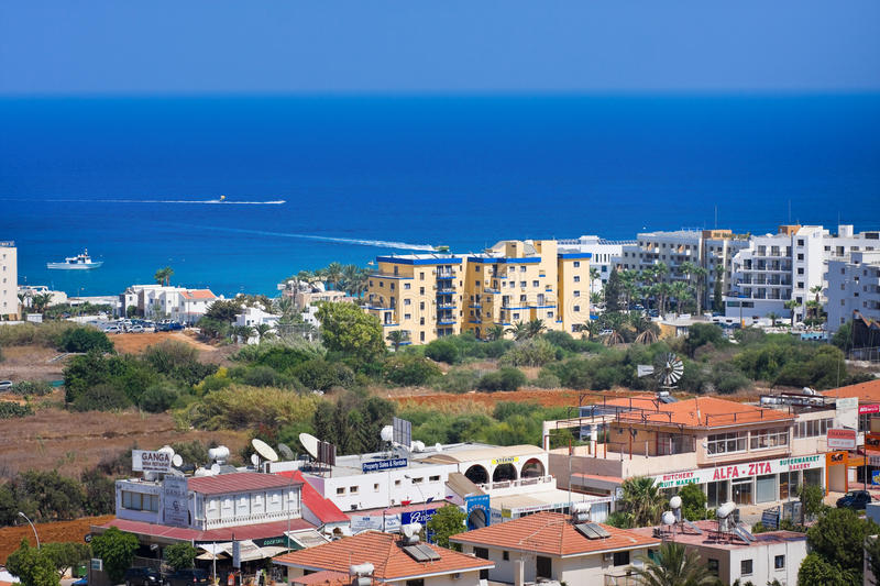 Protaras, Famagusta District, Cyprus royalty free stock photography