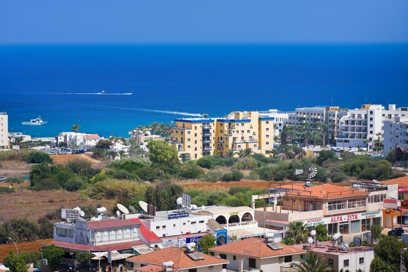 Protaras Famagusta område, Cypern royaltyfri fotografi