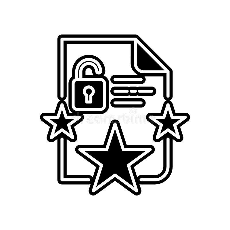 Proteção, ícone da conformidade Elemento do projeto dos dados gerais para o conceito e o ícone móveis dos apps da Web Glyph, ícon ilustração do vetor