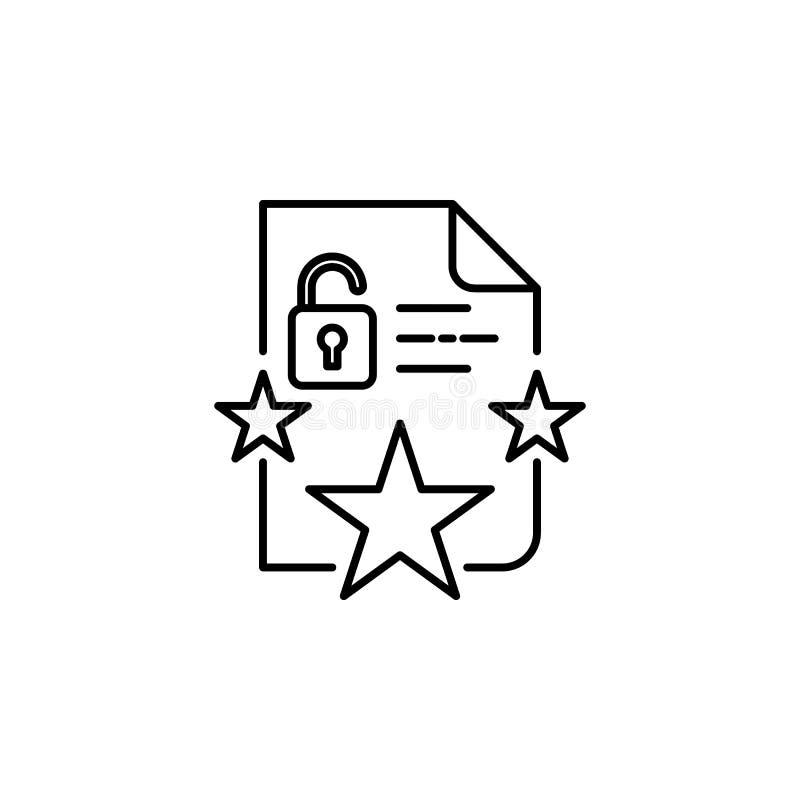 Proteção, ícone da conformidade O elemento de dados gerais projeta o ícone para apps móveis do conceito e da Web Linha proteção f ilustração stock