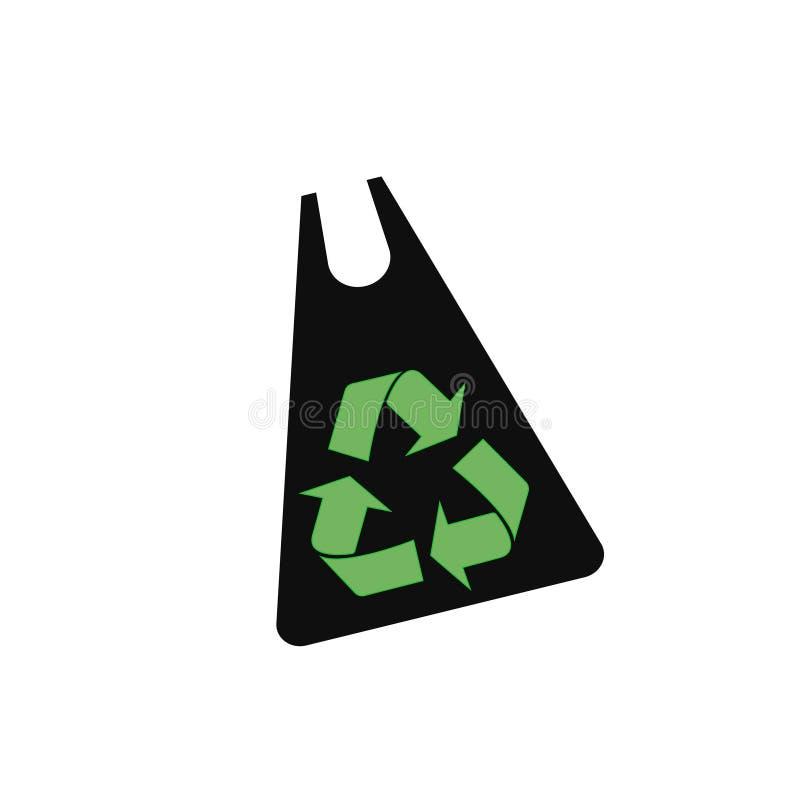 A proteção ambiental orgânica e dos eco-sacos diz não aos sacos de plástico e usa sacos orgânicos Desperdício zero Recicl o símbo ilustração do vetor