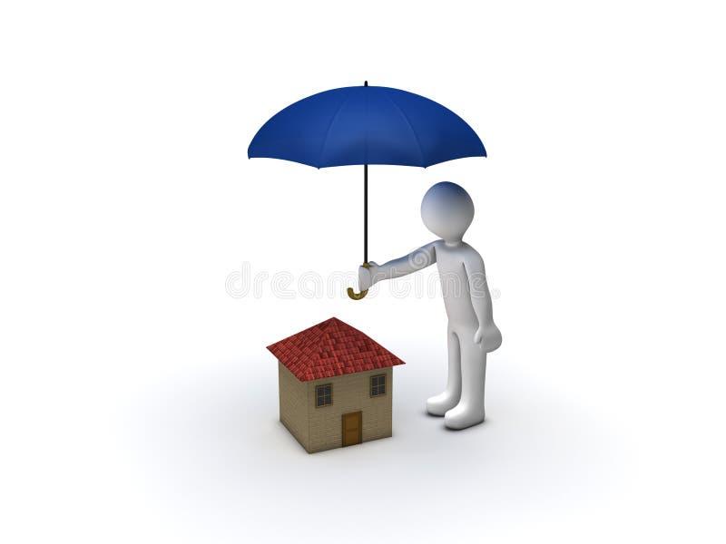 Proteção da casa ilustração do vetor