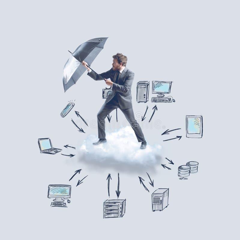 Proteção da nuvem imagens de stock
