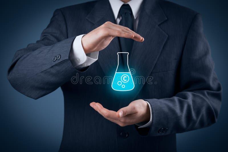 Proteção da propriedade intelectual foto de stock