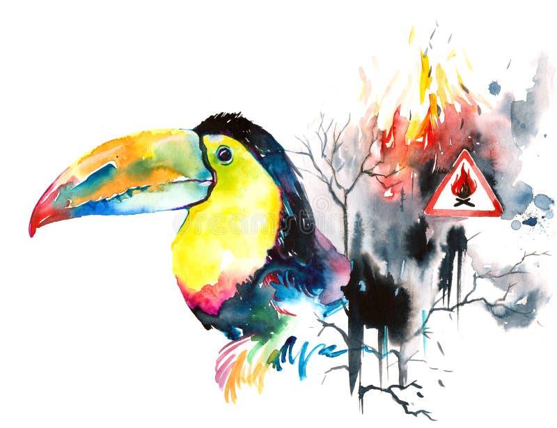 Proteção de ambiente ilustração royalty free