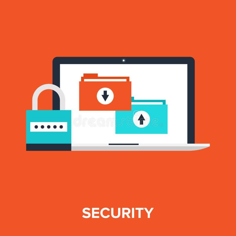 Proteção de dados ilustração do vetor