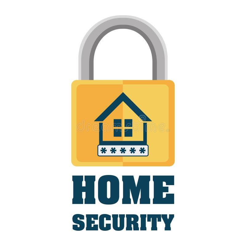 proteção de privacidade do cadeado da segurança interna ilustração royalty free