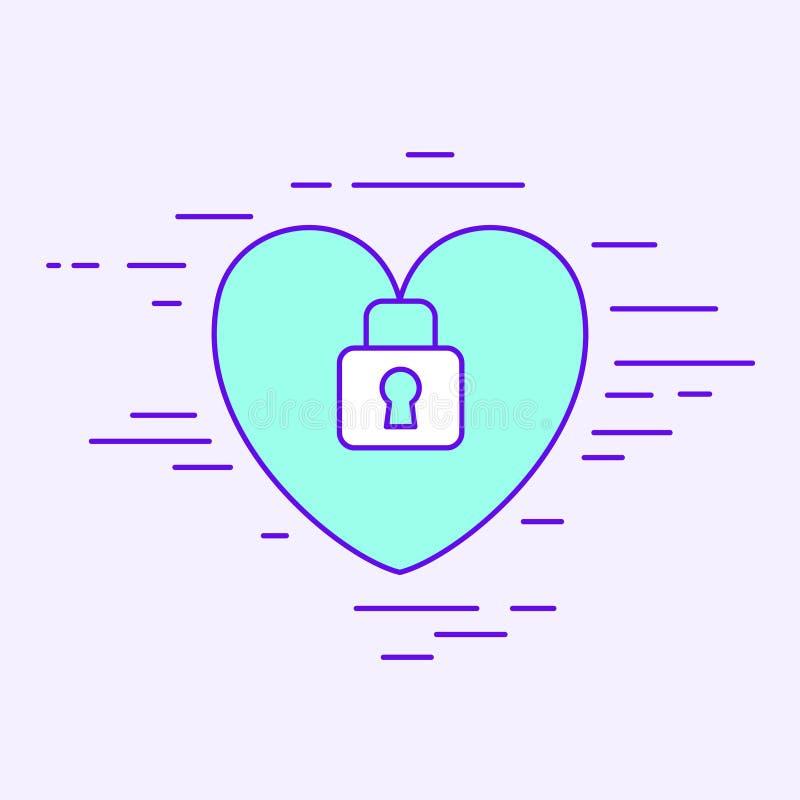 Proteção do coração ilustração stock