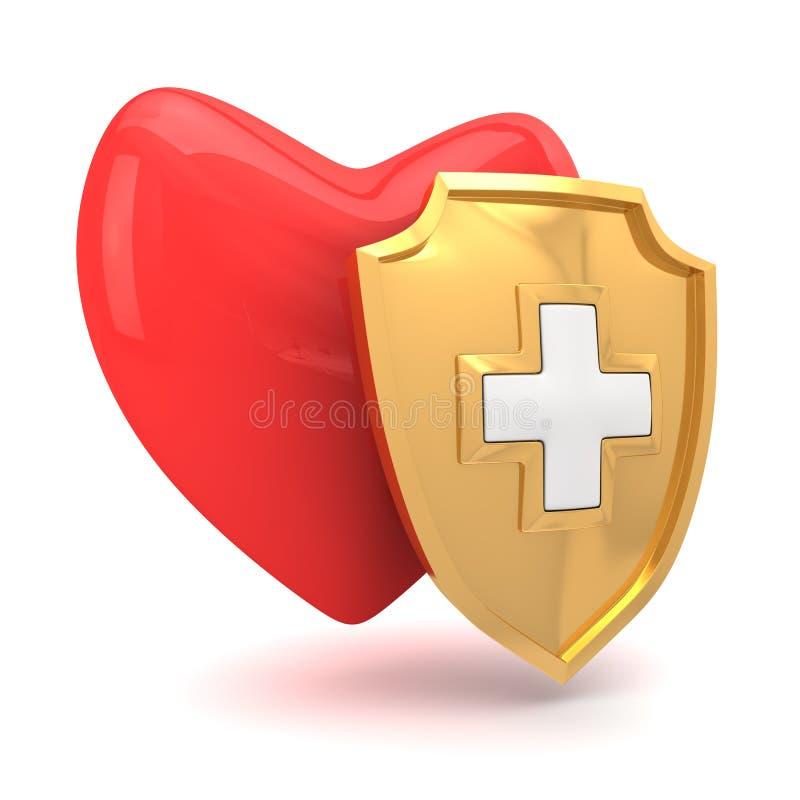 Proteção do coração ilustração do vetor