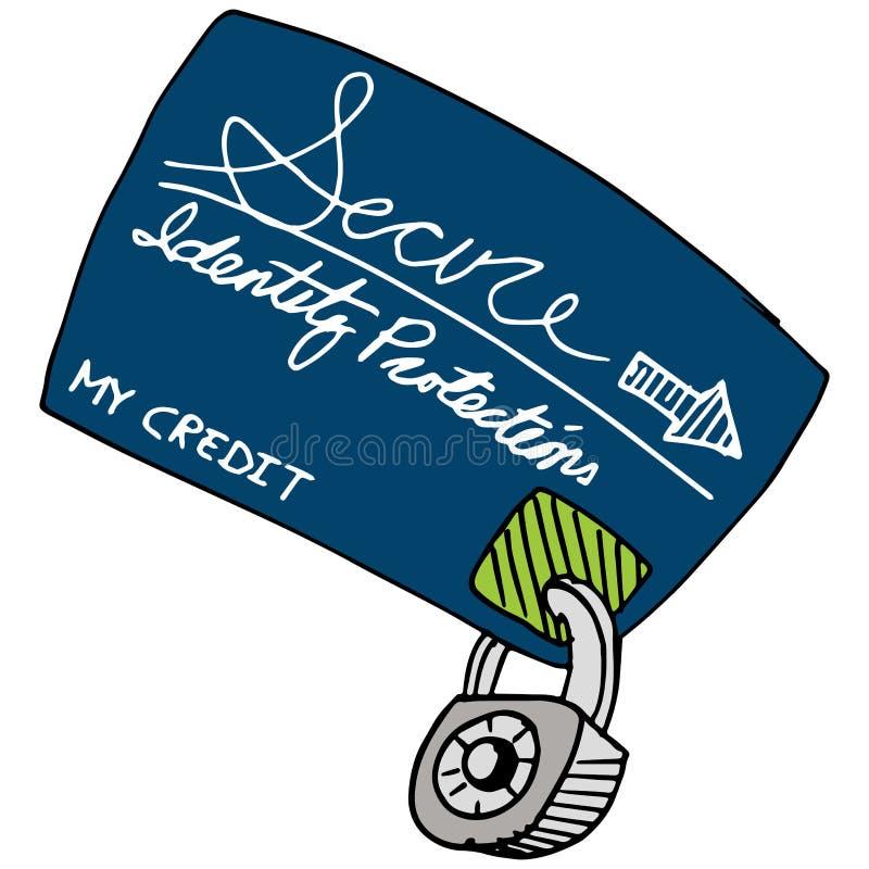 Proteção do crédito ilustração royalty free